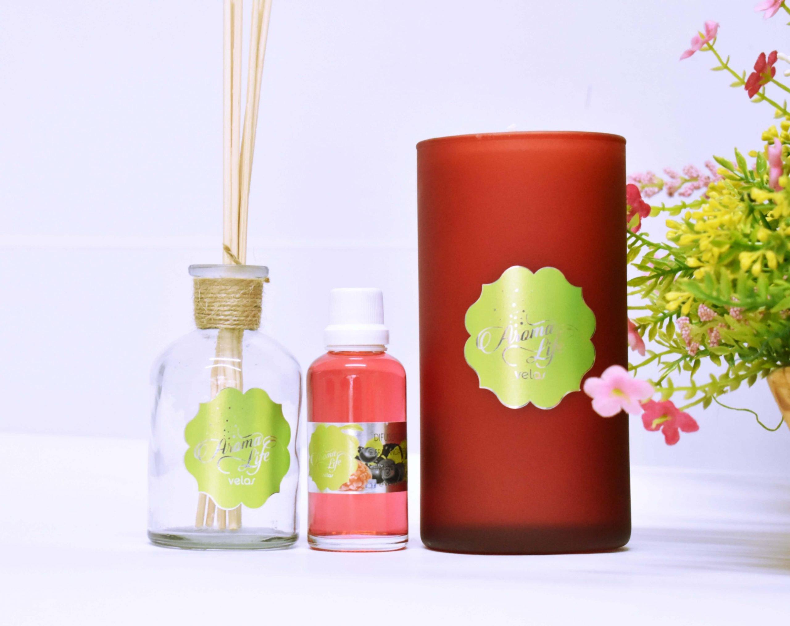 velas aromaticas aromatizadas decorativas